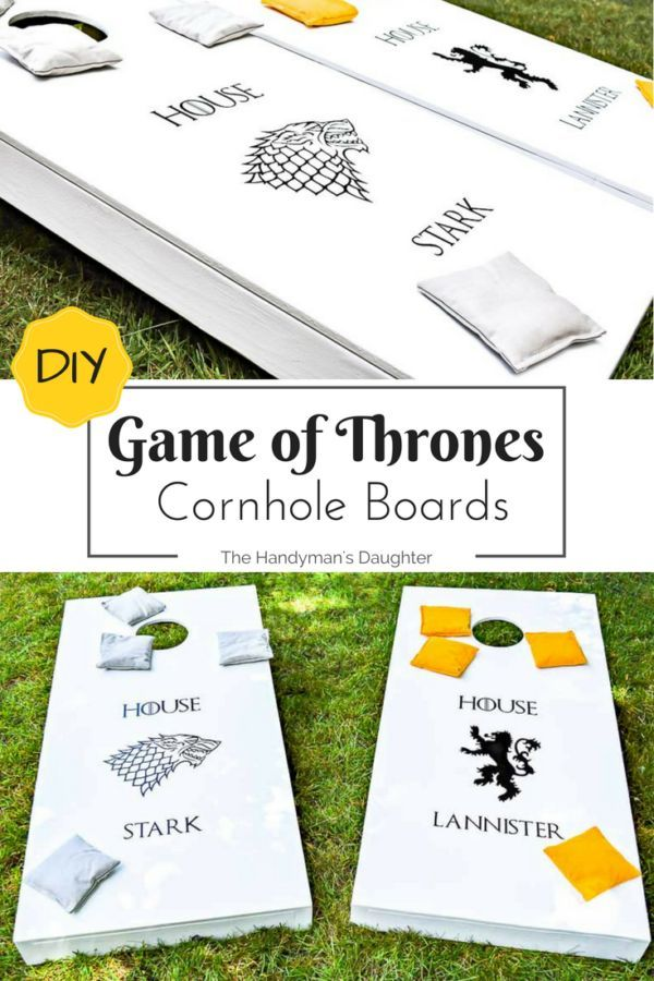 Game Of Thrones Game   Cornhole Boards   The Handymanu0027s Daughter