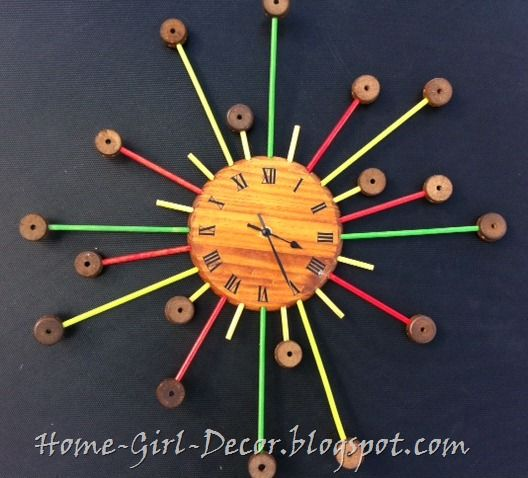 Starburst Clock Made From Vintage Tinker Toys So Atomic Atomic