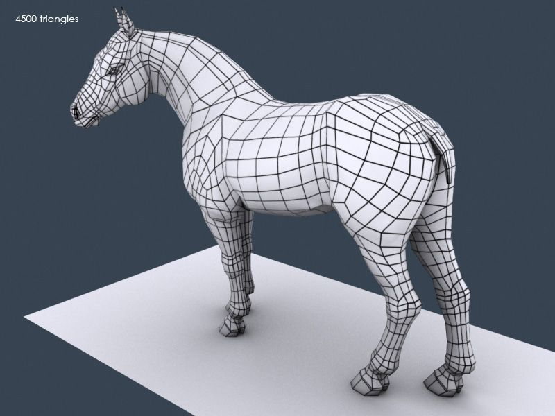 3d Horse Model Wireframe 03 By Sanchezclaire On Deviantart