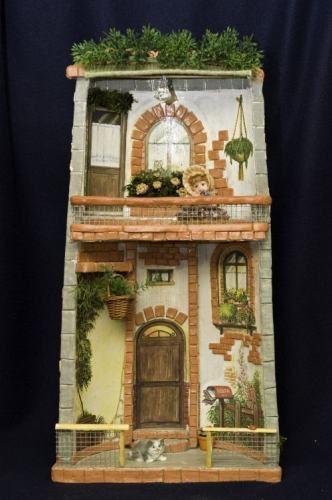 Tegola 4 decorare tegole roof tiles tiles e fairy houses for Giardini decorati