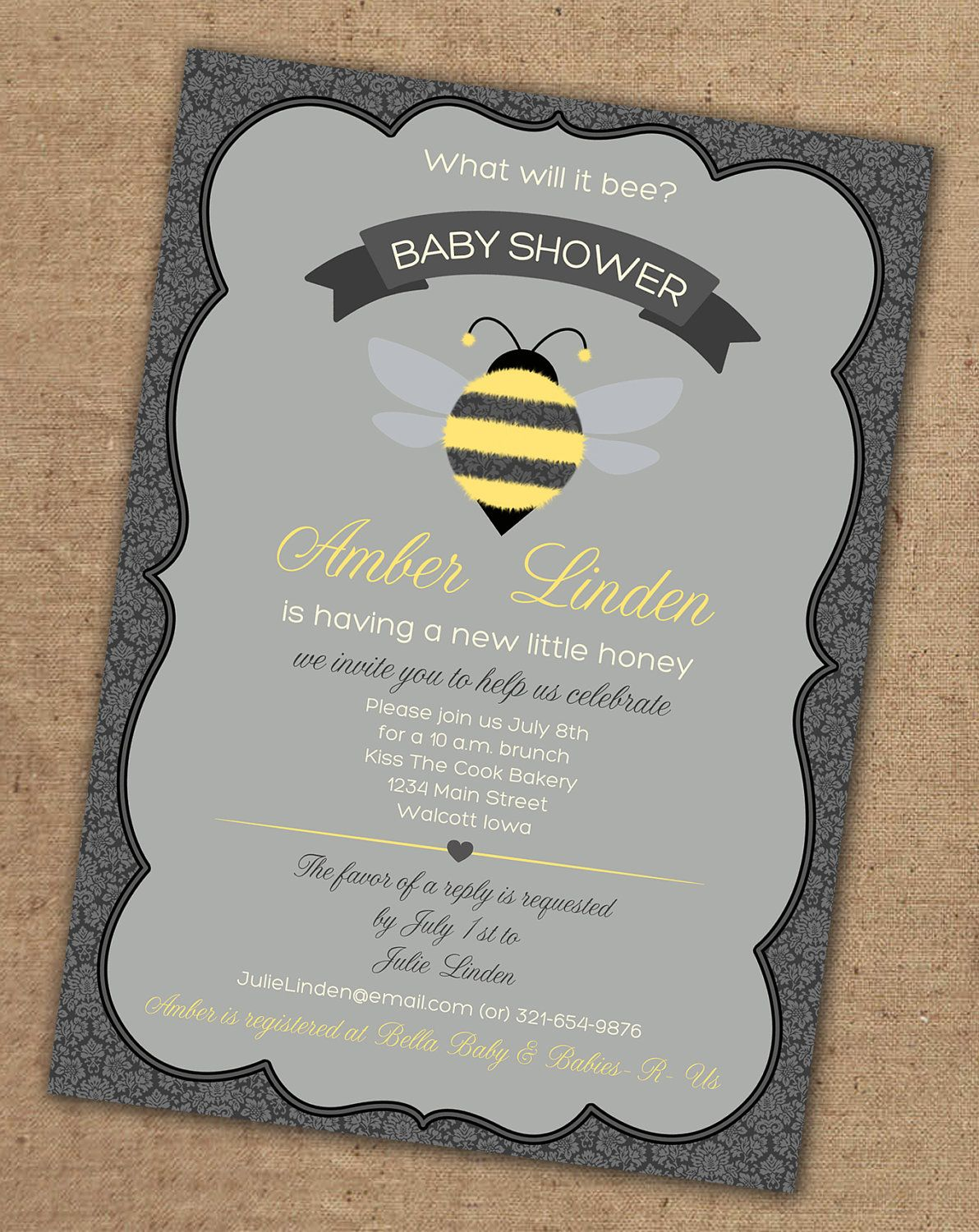 What will it BEE baby shower invitation Printable by Gretchee ...