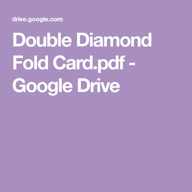 4 Fold Card Template New Iced Double Diamond Fold Cards Tri Fold Cards Folded Cards Fun Fold Cards