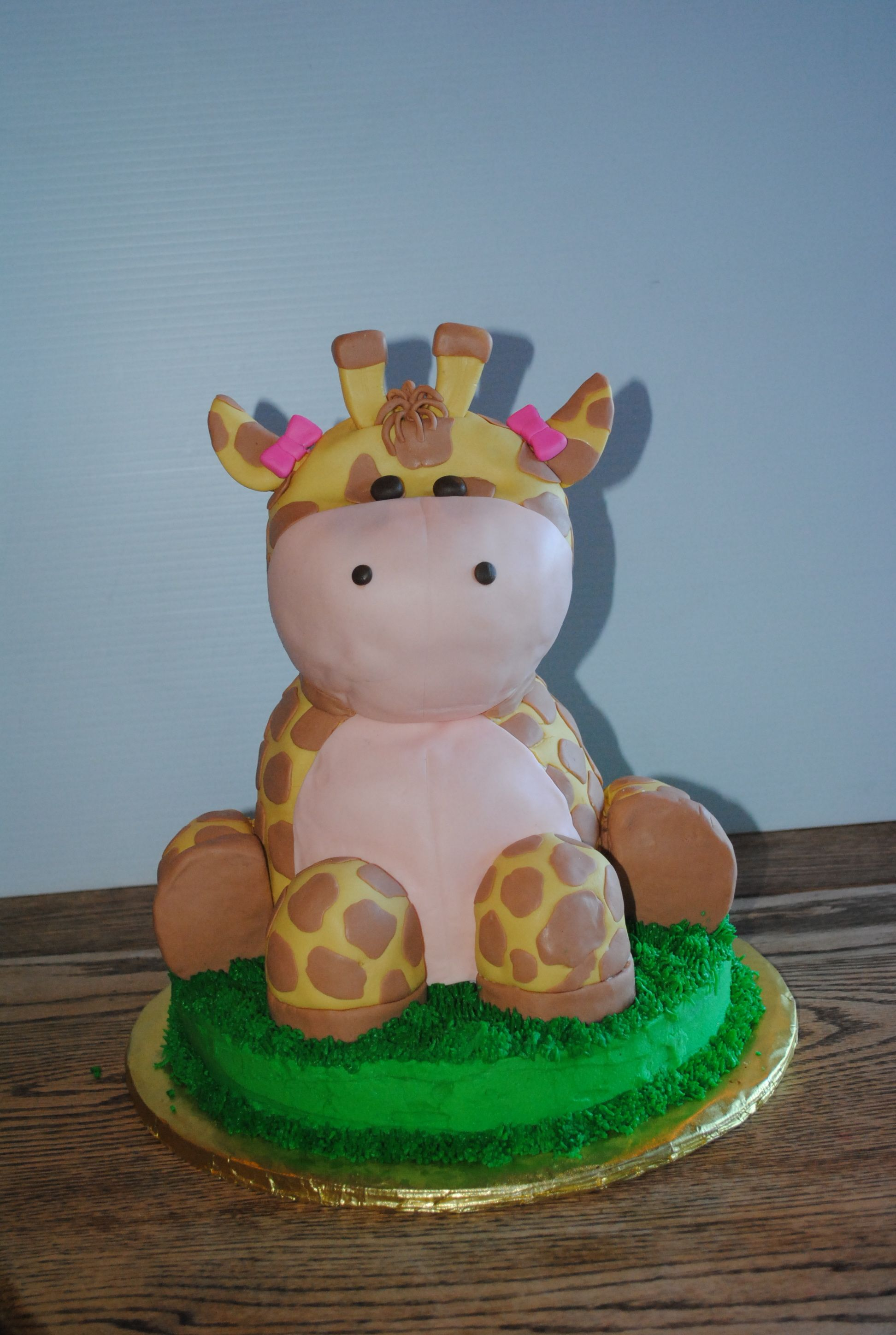 This is a Vegan chocolate giraffe cake I made for a little girls