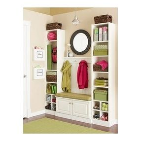 Superbe Inexpensive Entry Way Or Mud Room Using Ikea Bookcases And Cabinets From  Lowes (basement)