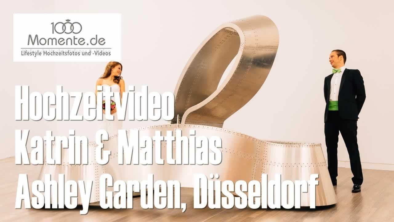 Freie Hochzeit Im Ashley Garden In Dusseldorf Hochzeitsvideos Hochzeit Hochzeitsfoto Video