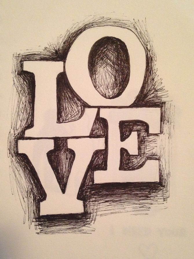 Draw 3d block letters block lettering 3d and drawings for Love stuff to draw