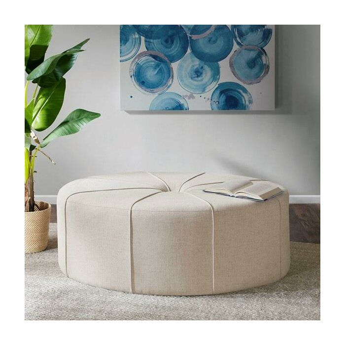 Telly Oval Tufted Cocktail Ottoman In 2020