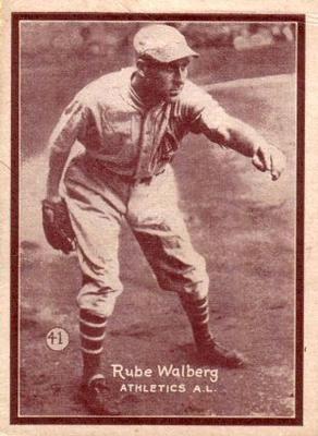 1931 W517 41 Rube Walberg Front Baseball Cards Baseball Trading Cards