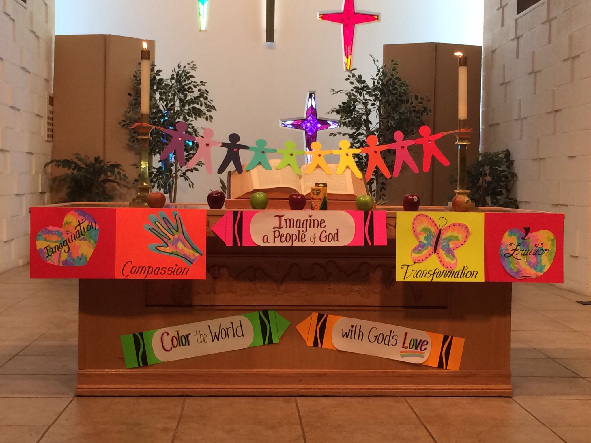 Our altar for Imagine a People of God