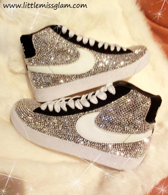 #WholesaleShoesHub  #COM    Blinged Nike Blazers Unisex : LittleMissGlam