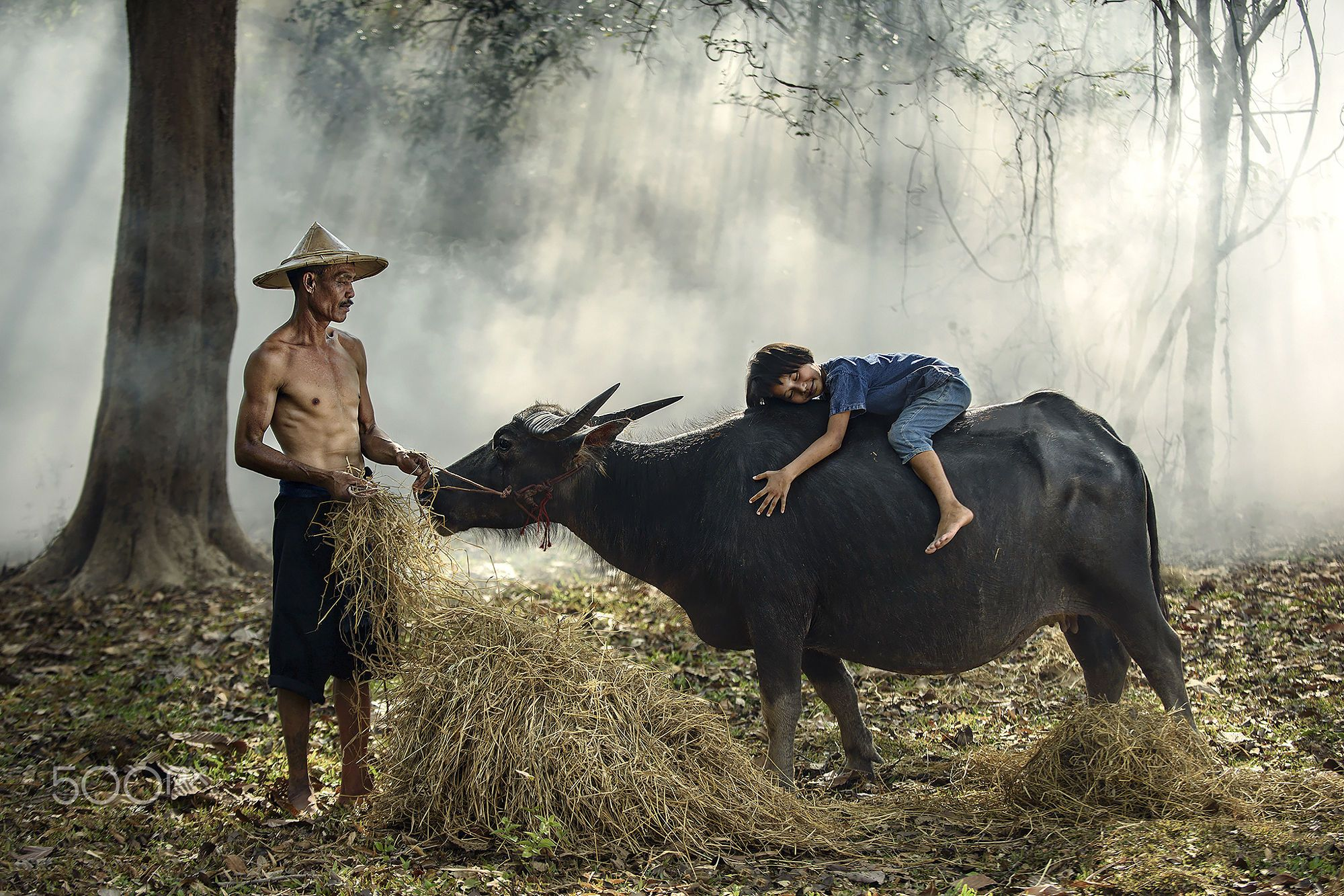 farmer and Daughter by Chadchai Ra-ngubpai on 500px