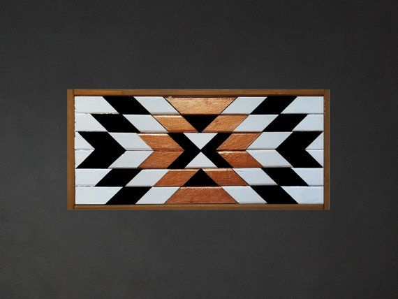 COPPER | Reclaimed Wood Art | Tribal Wood Art | Geometric Wall Art | Boho Decor | Wood Wall Hanging | Southwest Decor | Rustic | Farmhouse #reclaimedwoodwallart