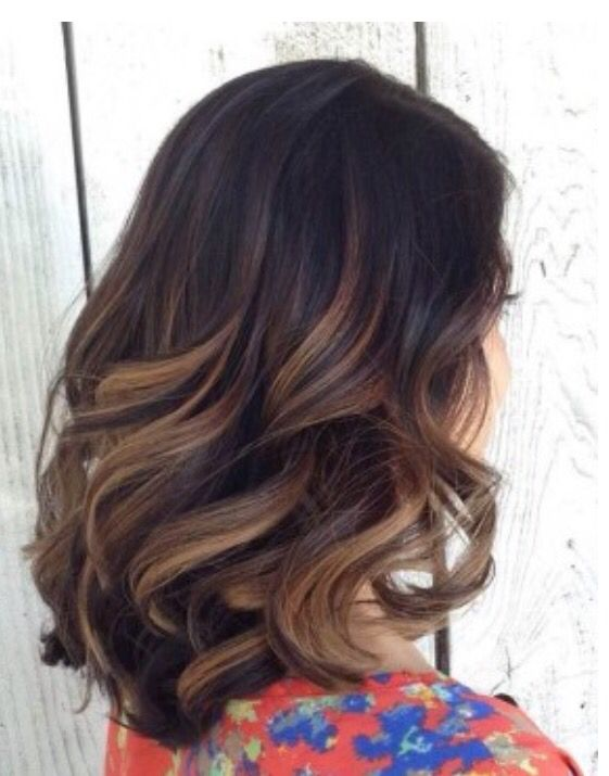 Lob With Caramel Highlights Big Bouncy Curls My Next Hair Style And Color
