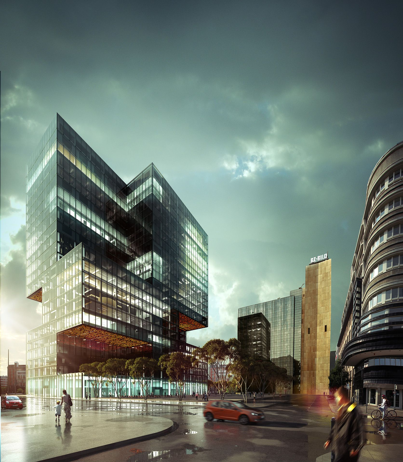Axel springer verlag wettbewerbsvisualisierung - Architekturvisualisierung berlin ...