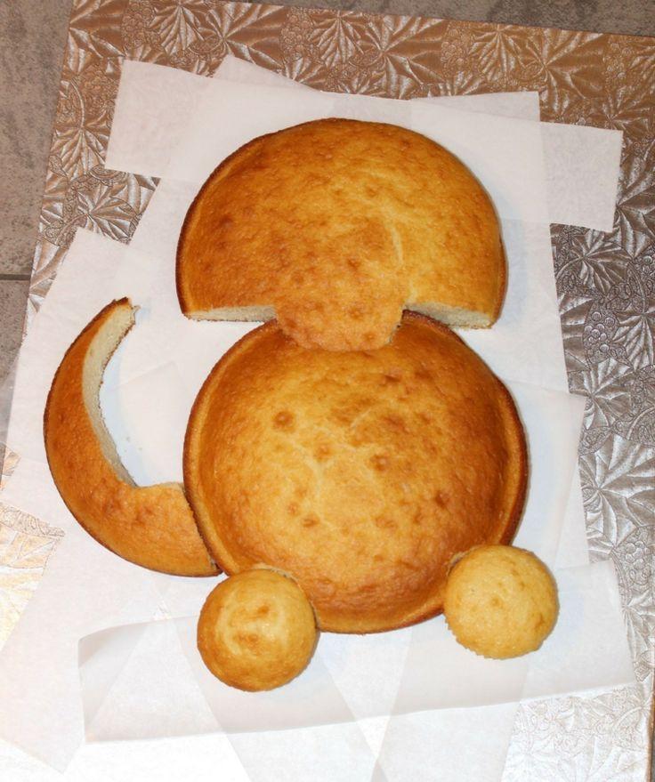 Dinosaurier Torte Anleitung Kuchenböden Cupcakes Ausschneiden  Zusammenstellen