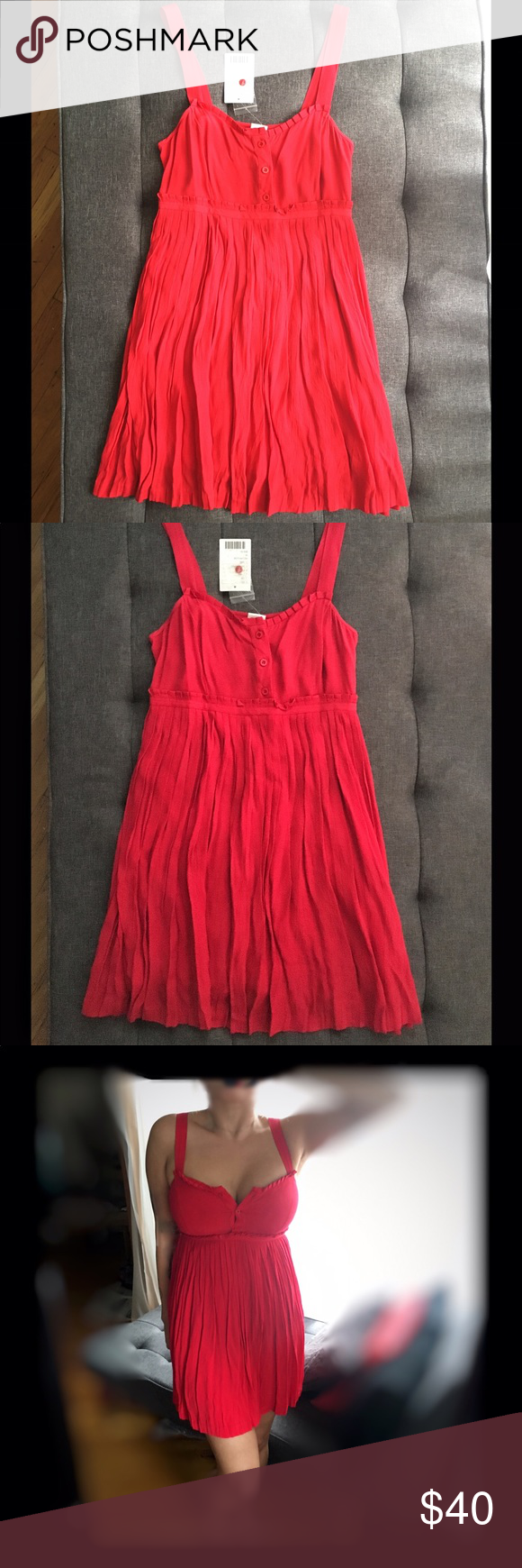 Cute red dress nwt brand new never worn red dress rayon u viscose