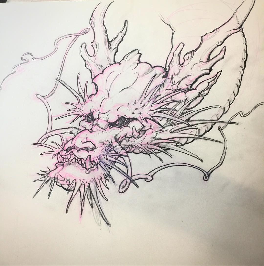 Dragon Head Drawing Thanks Tonyhu Chronicink For The Help Dragonhead Japanesedragon Sketch Ta Dragon Head Drawing Asian Dragon Tattoo Dragon Tattoo Sketch