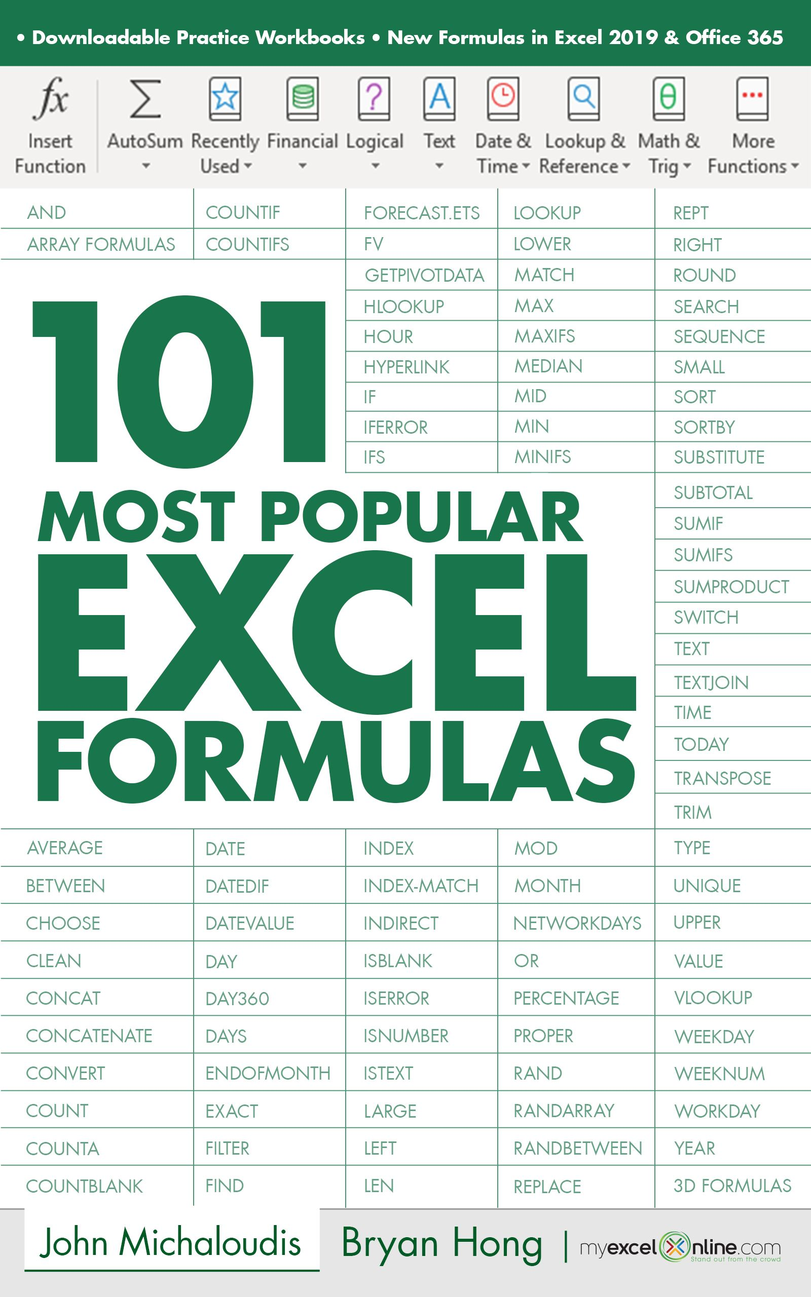 The 101 Most Popular Excel Formulas E Book Is Finally Here