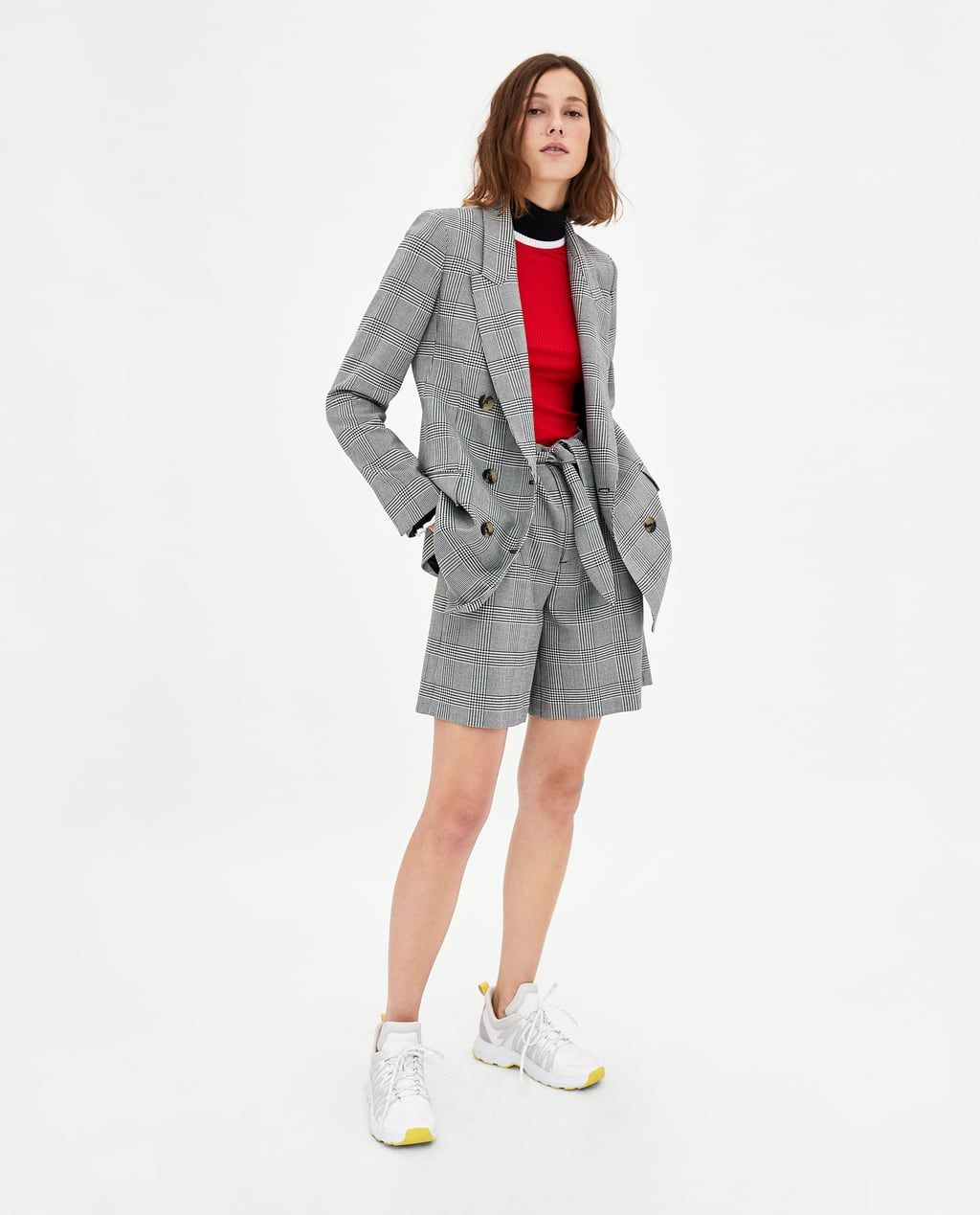 7135545825b6 CHECKED DOUBLE-BREASTED BLAZER-NEW IN-WOMAN