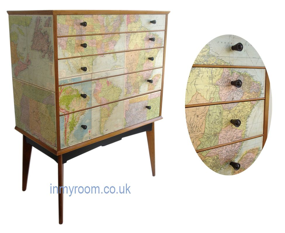 Map Inspired Furniture House Ideas Chest Of Drawers