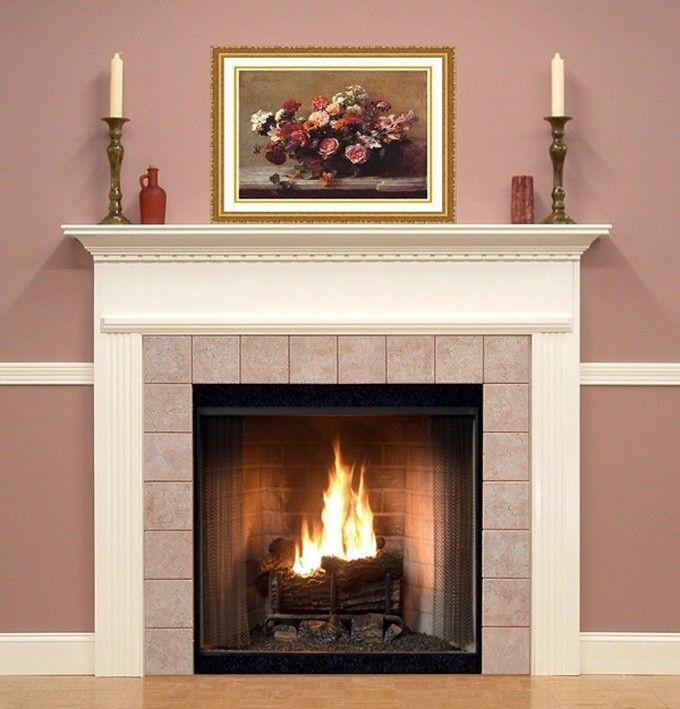 Delicate Fireplace Mantel Kits Decoration Pretty Fireplace