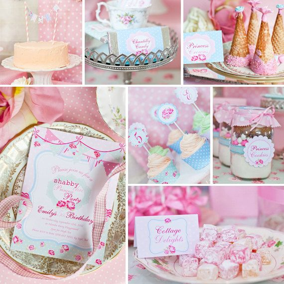Shabby Chic Princess Party Theme by SunshineParties