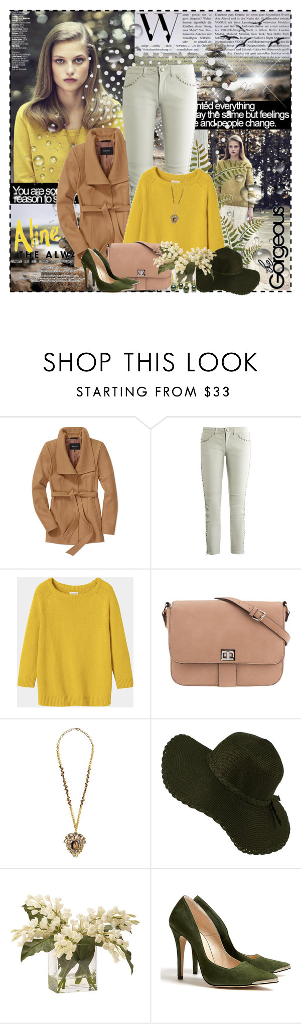 """""""Give me some sunshine..."""" by aselkaliyeva ❤ liked on Polyvore featuring Babaton, Isabel Marant, Toast, Parfois, Suzanna Dai, Ethan Allen and Ganni"""