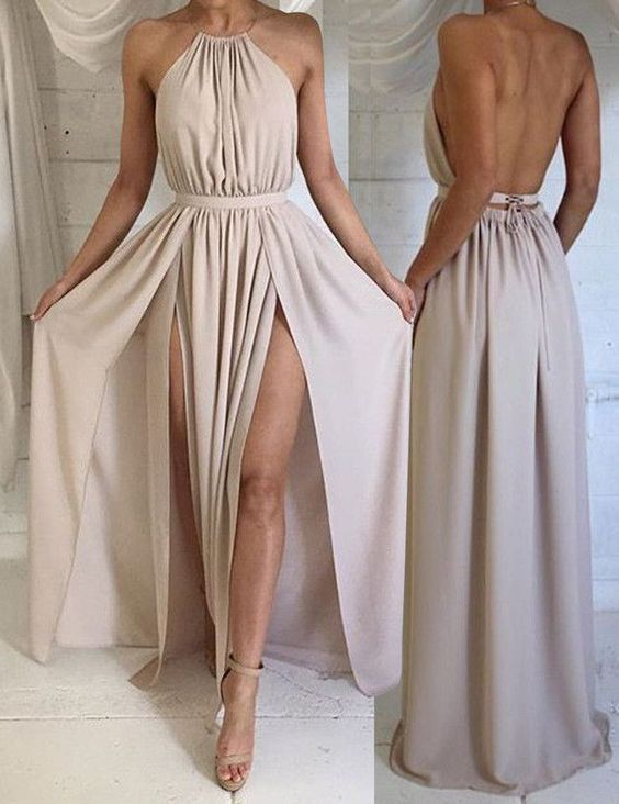 langes chiffon kleid