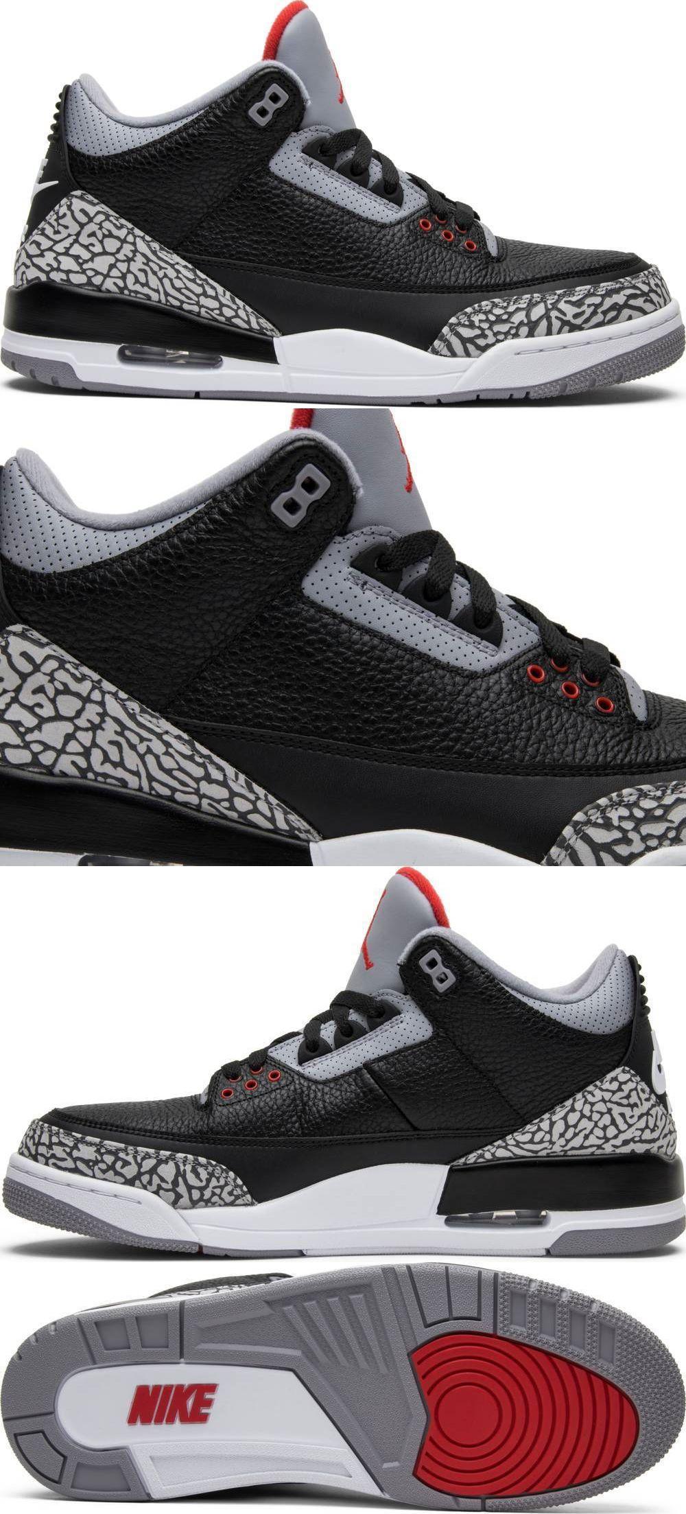 07c9eb449b1224 Athletic 15709  2018 Air Jordan Retro 3 Og Black Cement Men Size 8 ...