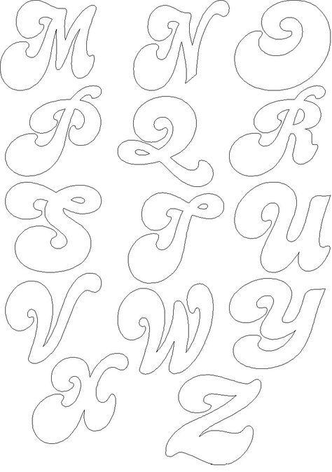 Letras grandes para colorear - Dibujos para colorear - IMAGIXS 3 CM ...