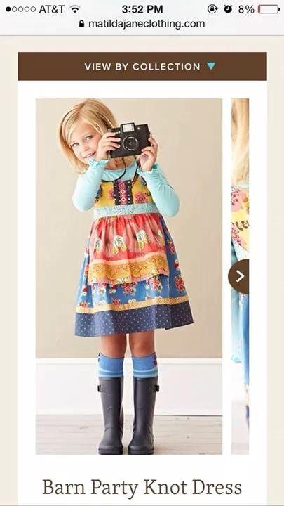 Matilda Jane barn yard knot size 2   Baju anak, Anak