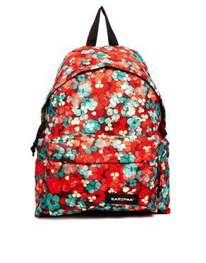 Eastpak Padded Pak'r With Red Floral Print (avec images