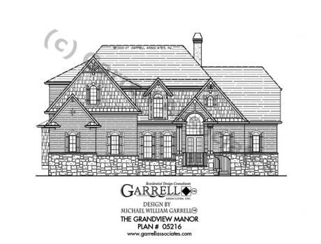 Grandview Manor House Plan 05216 Front Elevation Craftsman Style