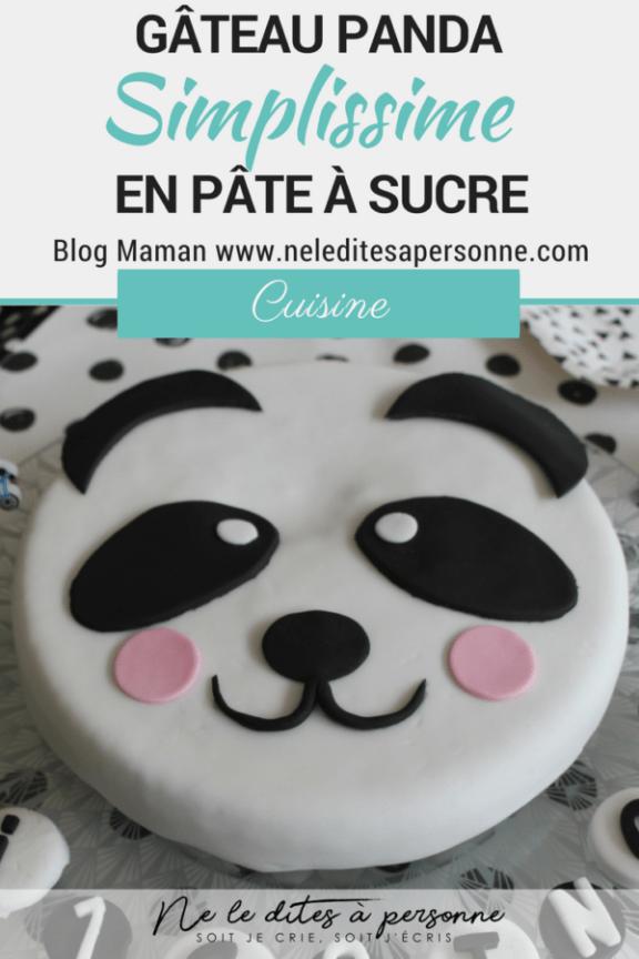 Préparer un gâteau Panda danniversaire en pâte à sucre simple et efficace qui permette de frimer sur Instagram et accessoirement faire plaisir &...