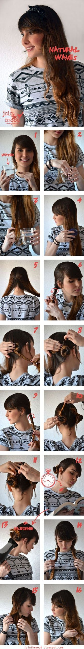 Make a Natural Waves For Your Hair Tutorial.    From:  http://hairstyles-tutorial.blogspot.com/2013/04/make-natural-waves-for-your-hair.html?utm_source=feedburner_medium=email_campaign=Feed%3A+HairstylesTutorial+%28hairstyles+tutorial%29