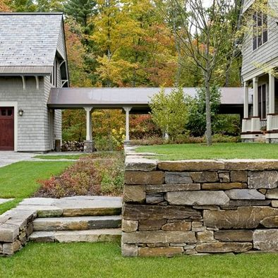 Spaces Detached Garage Design Pictures Remodel Decor And Ideas Page 2 Shingle Style Homes House Exterior Traditional Landscape
