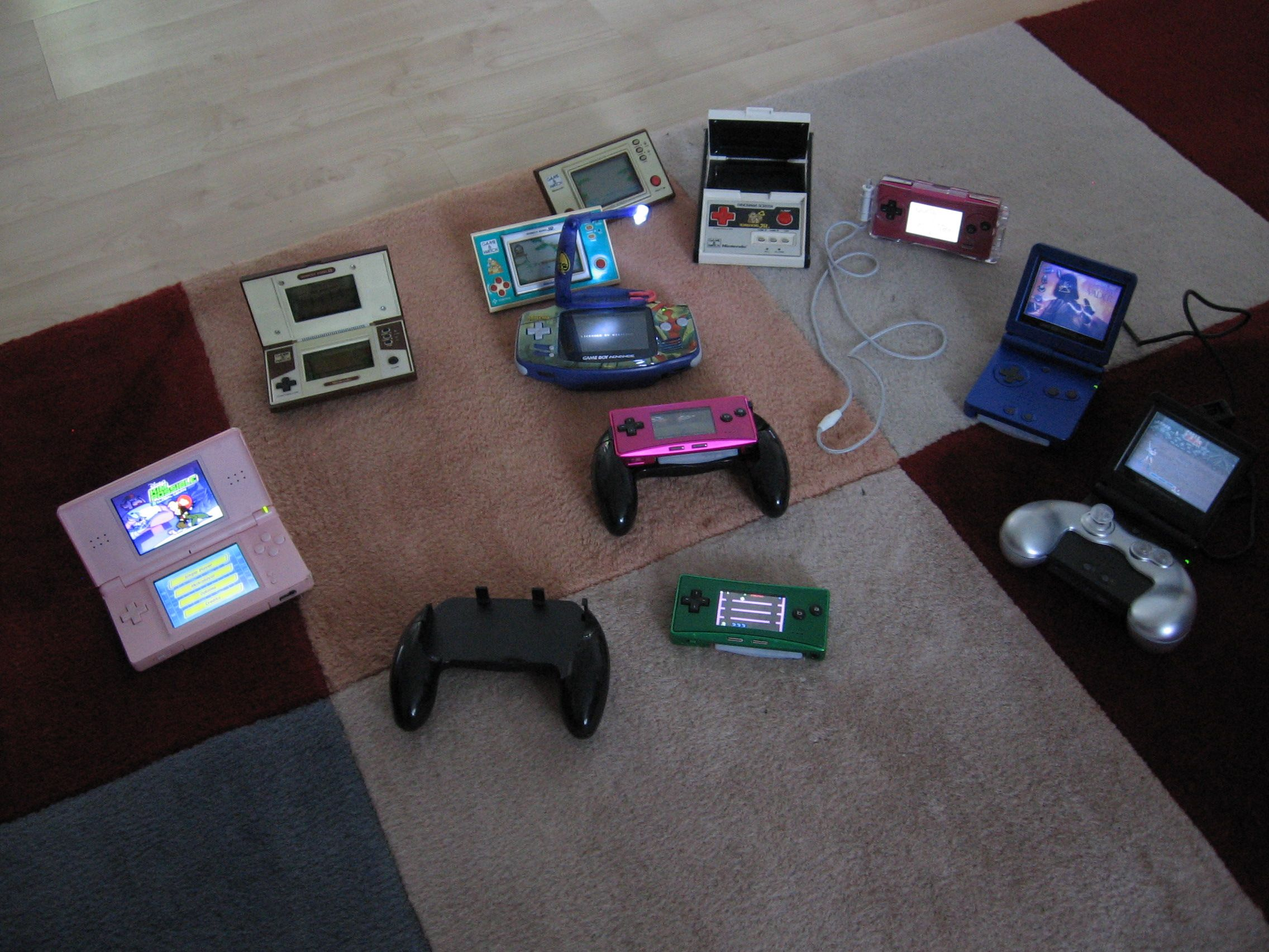 My households Nintendo Portable collection.