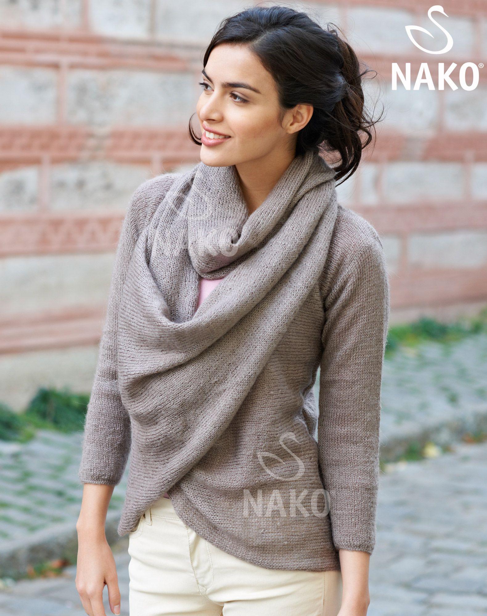 KM-102 Süper Angora Kazak / / Kadın / MODELLER / Nako | anlatımlı ...