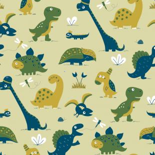 Dinosaurrr yellowgreen (wallpaper roll)