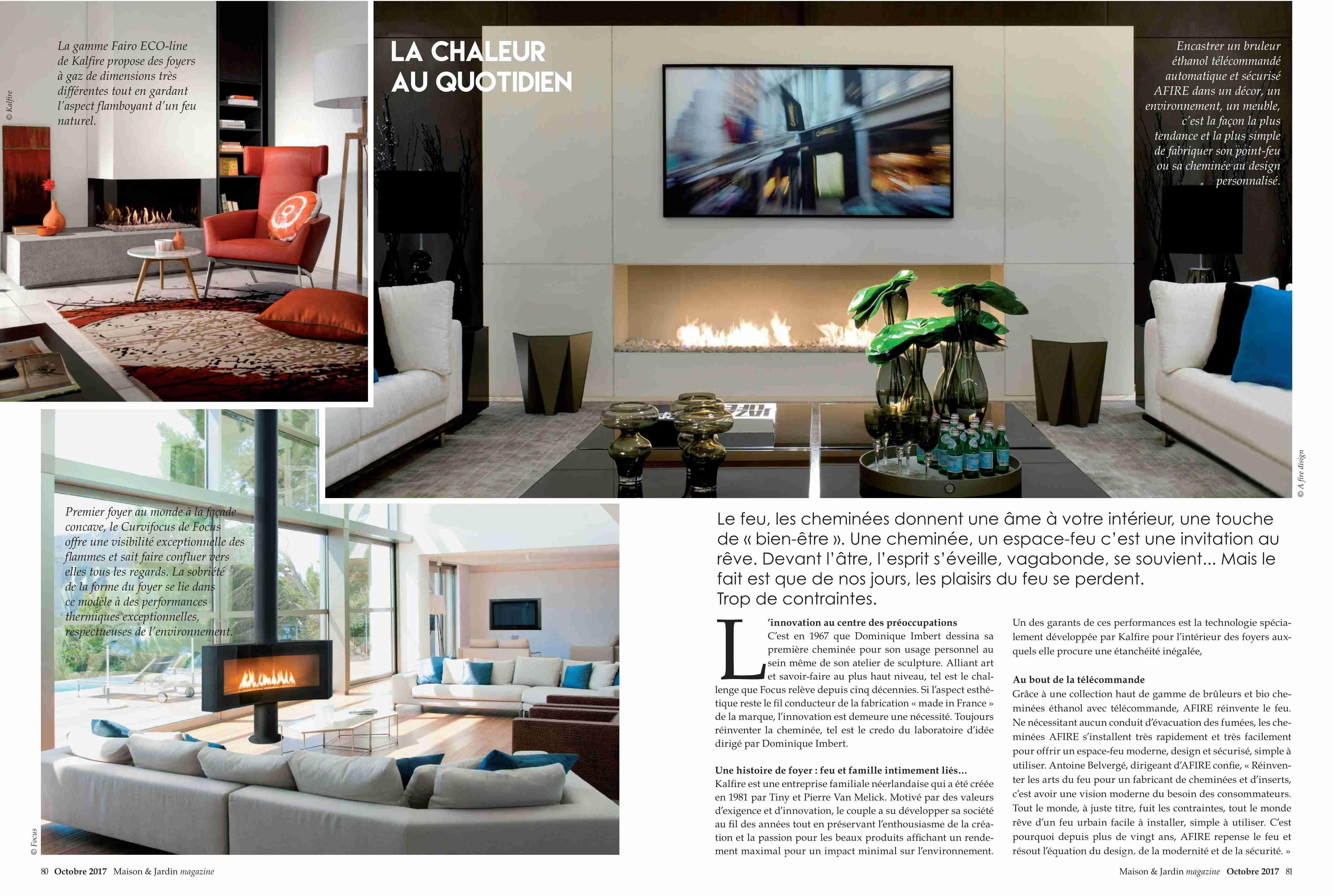 C Maison Et Jardin Magazine garden & home fireplace news 2017 ethanol fireplaces
