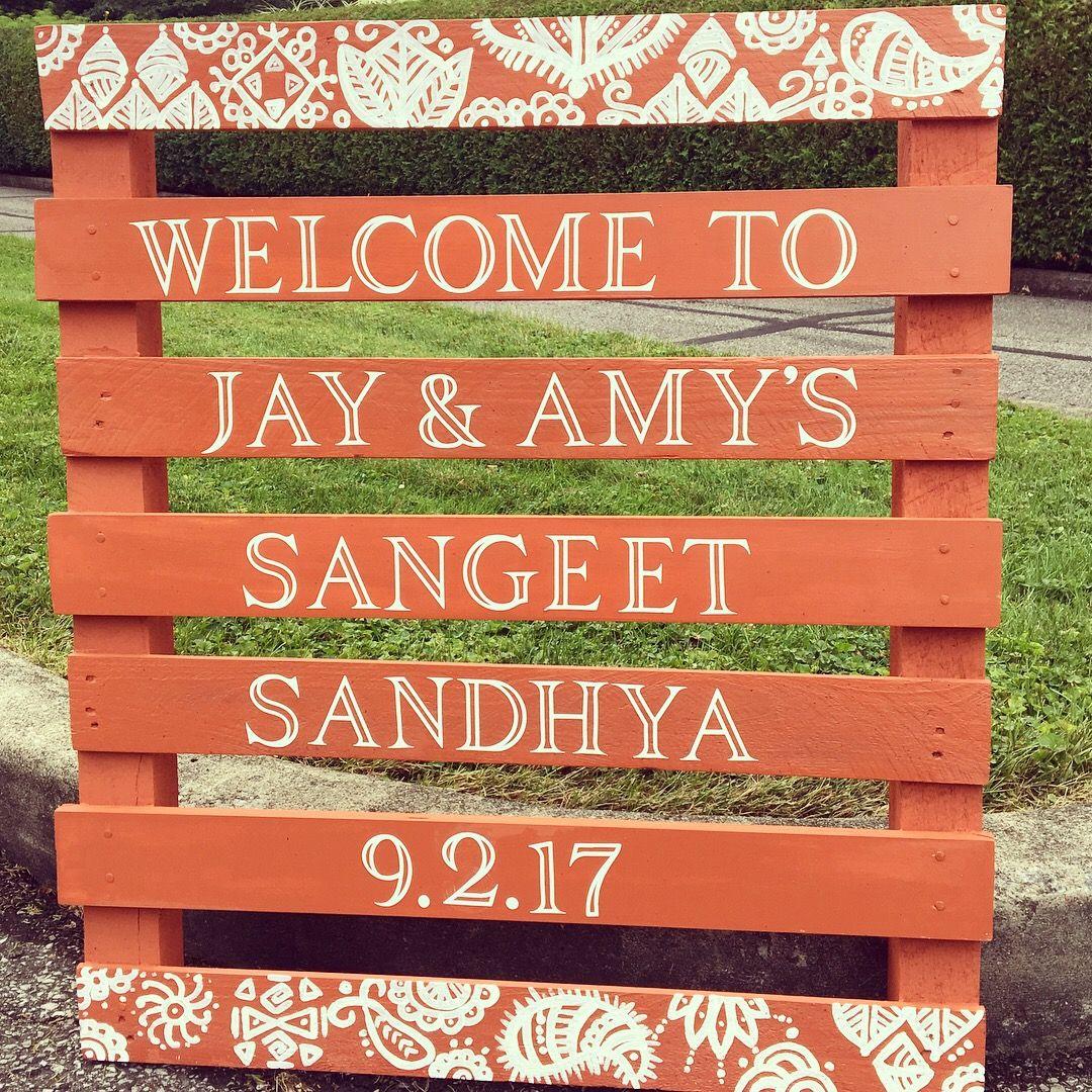 Sangeet celebration entrance sign