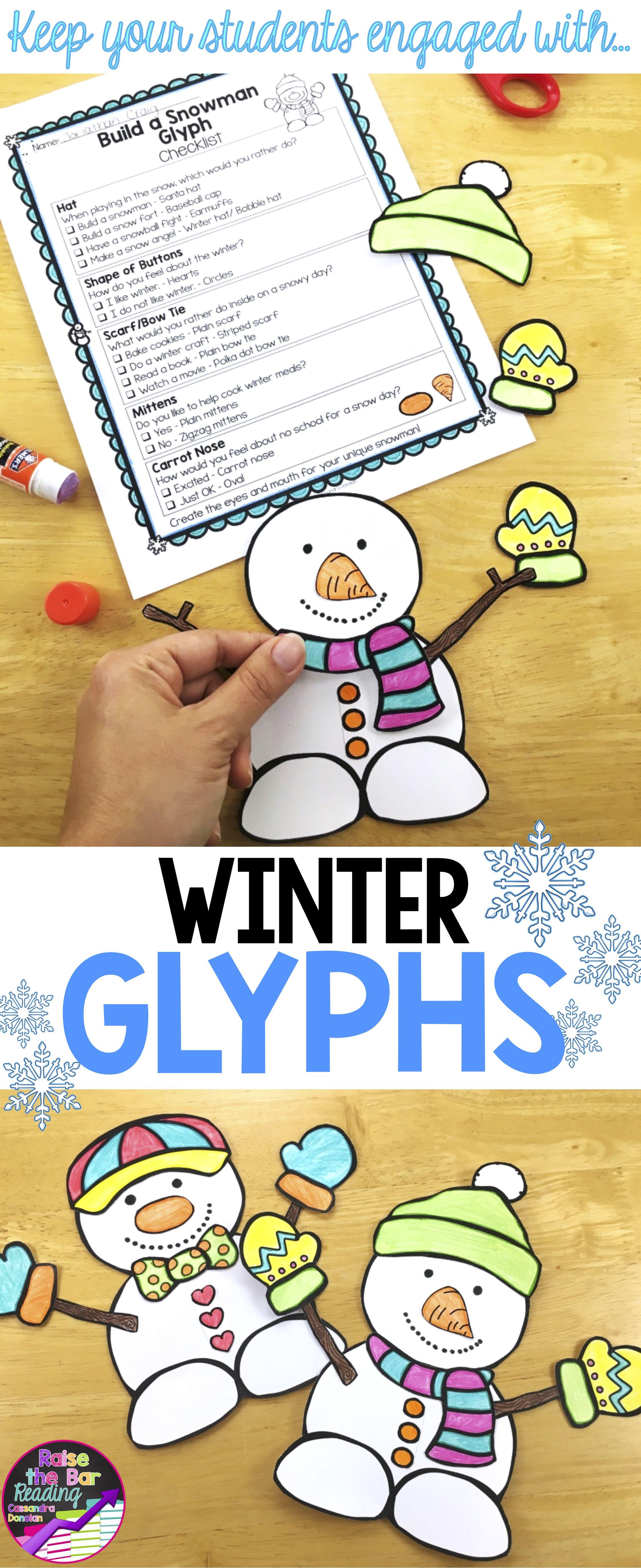 Winter Activities 3 Low Prep Winter Crafts Glyphs