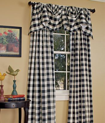 Buffalo Check Curtains Paula Has Green Ones I Really Like The Black And White Check Curtains Black Curtains Buffalo Check Curtains