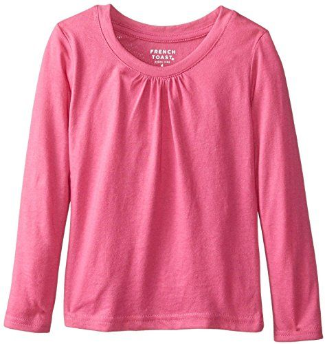 556cadf7ace French Toast School Uniform Girls Long Sleeve Crew Neck T-Shirt with Front  Gathers     See this awesome image