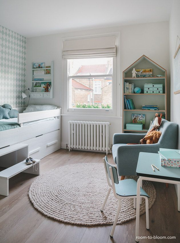 Childrens Interior Design Scandinavian Mint And Blue