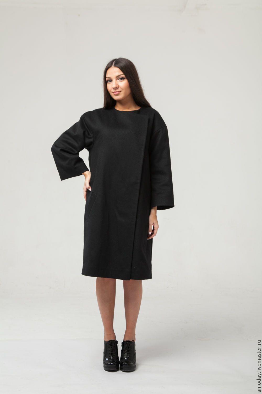 Купить Черное пальто оверсайз. Пальто женское утепленное. - пальто женское 3a209460b079b