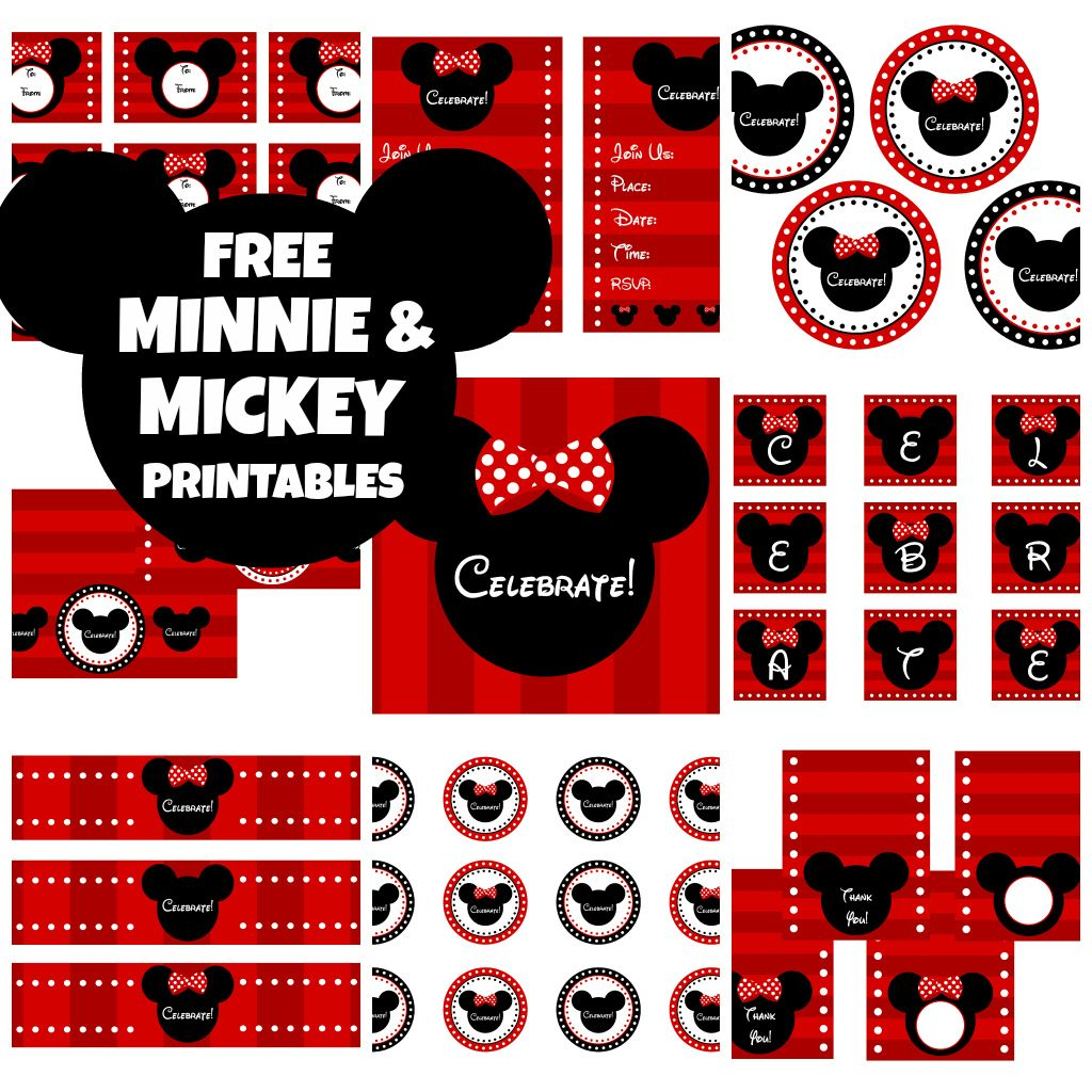 FREE Mickey & Minnie Mouse Birthday Party Printables from ...