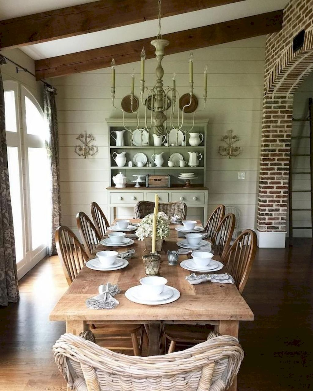 Country Dining Room Decorating Ideas: 80 Fancy French Country Dining Room Decor Ideas