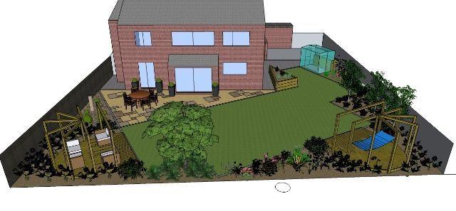 wide shallow garden | Garden Design Ideas For You | Small ...