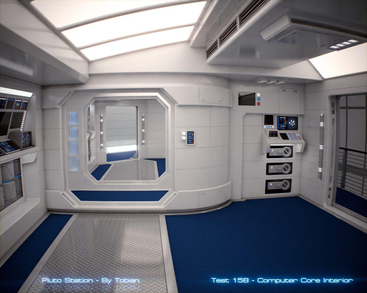 Sci fi clean room sci fi spaceship interior for Sci fi decor